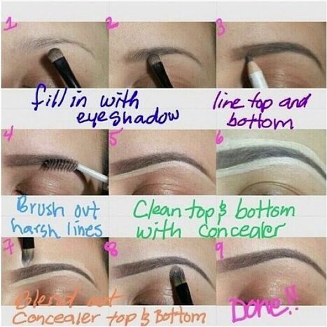Achieve the perfect brow... All you need is a good concealer & brow products! All can be found on our website!