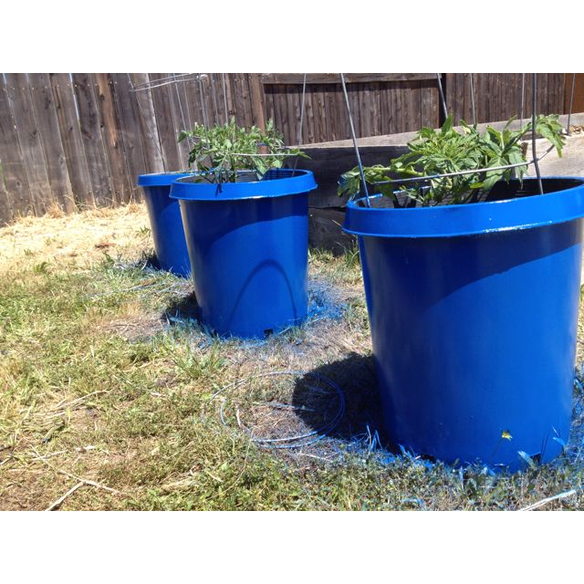 Calipots 5 Pack 15 Gallon Premium Black Plastic Nursery