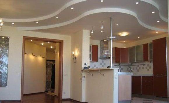 Многоуровневый потолок из гипоскартона