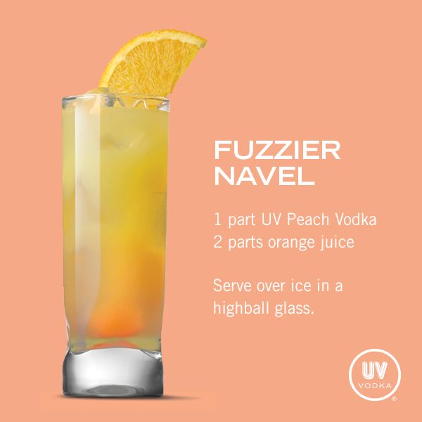 UV Vodka Recipe: Fuzzier Navel...weird name but sounds yummy