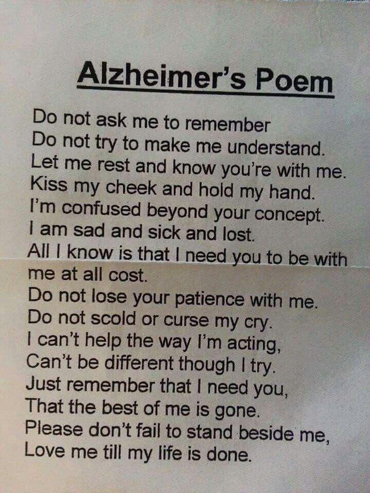 Alzheimer's Poem