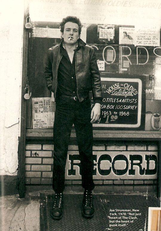 "Joe Strummer, New York, 1978: ""Not just heart of the Clash, but the heart of punk itself."""