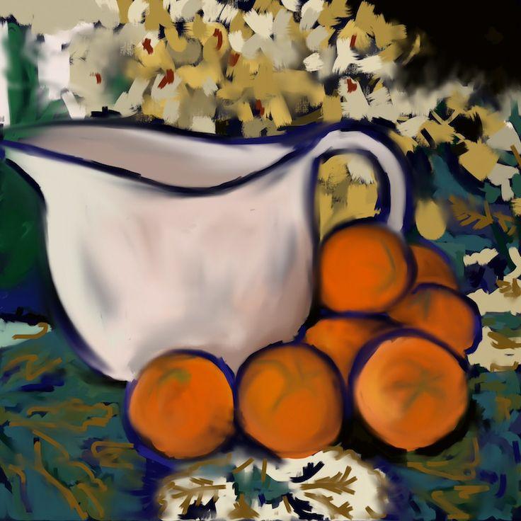 http://jkretschmerblog.wordpress.com Cézanne inspired iPad painting by Jennifer Kretschmer, AIA.