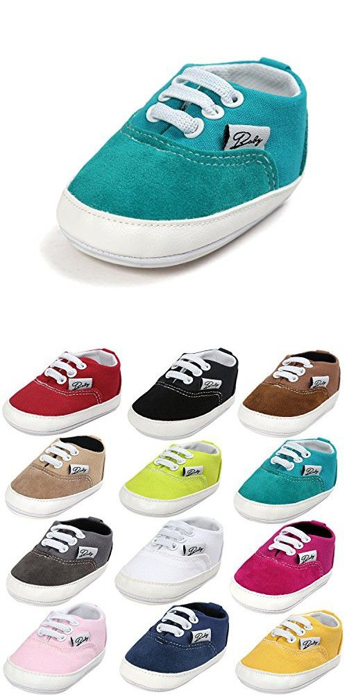 BENHERO Baby Boys Girls Canvas Toddler Sneaker Anti-slip First Walkers Candy Color Shoes 0-18 Months 12 Colors (12cm(6-12months), Turquoise blue)