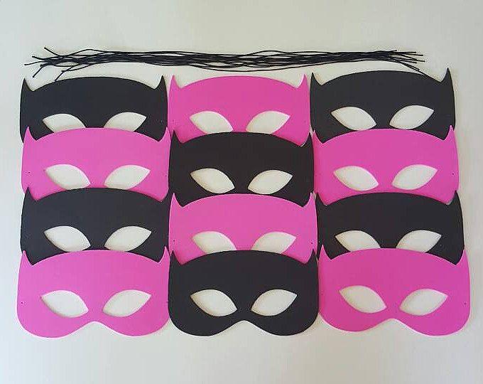 SALE!!!! BATMAN MASKS - Batgirl Masks - 0.50 each for 10 or more - Un-Assembled Mask Kit -Use as Favor or Mask - Batman Party, Batgirl Party