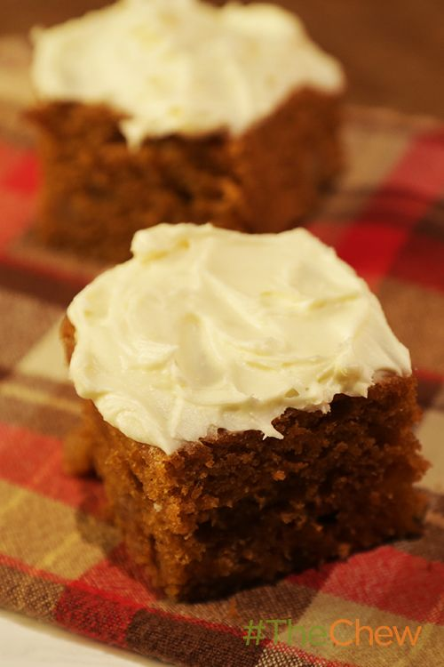 Dessert has never tasted so good with Carla's Ginger Pumpkin Bars with Cream Cheese Icing!