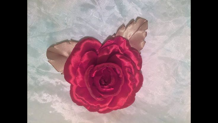 Diy ribbon roses, how to make satin ribbon roses,kanzashi roses flower