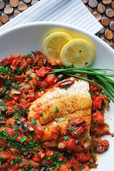 Snapper Recipe with Spicy Tomato and Herb Sauce