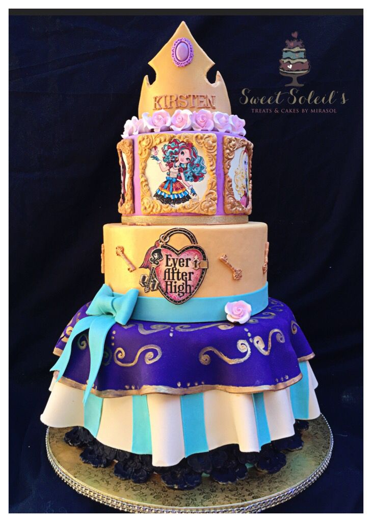 SweetSoleil's Ever After High Inspired Cake