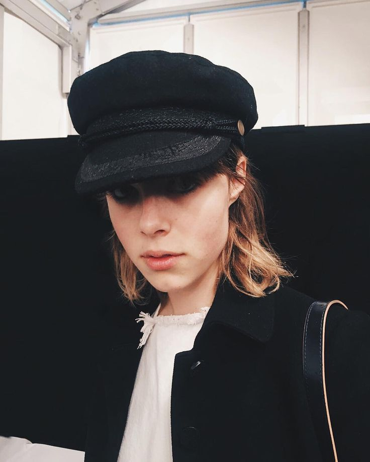 Edie Campbell backstage at Burberry AW16