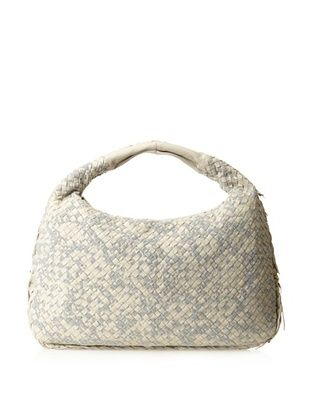 Bottega Veneta Women's Medium Hobo Bag, Beige/Gray