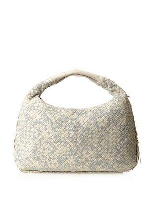 Bottega Veneta Women's Medium Hobo Bag, Beige/Gray