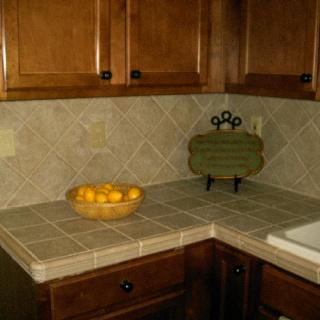 tiled countertop