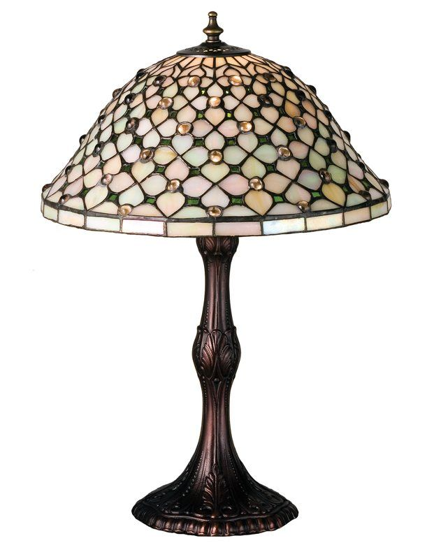 Gothic Diamond And Jewel 20 5 Table Lamp Stained Glass Table Lamps Lamp Table Lamp