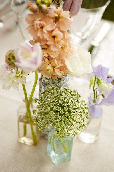 vintage bottles and florals: Wedding Inspiration, Color, Wedding Flowers, Flower Power, Pastel Flowers, Bottle, Flowers Inspiration, Branch Florals