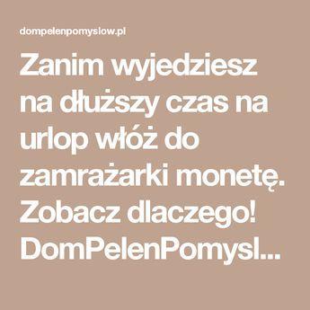 Zanim wyjedziesz na dłuższy czas na urlop włóż do zamrażarki monetę. Zobacz dlaczego! DomPelenPomyslow.pl