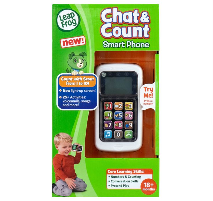 LEAPFROG - Chat and Count phone! Sing along to songs, explore activities and call on Scout for loads of fun!