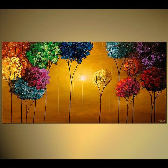 Wall Art Abstract Painting Canvas Art Print by Osnat Abstract Print PRINT on Canvas