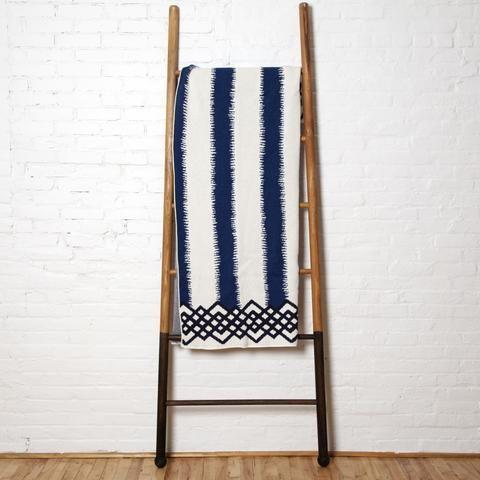 Eco Feathered Stripe Throw Blanket
