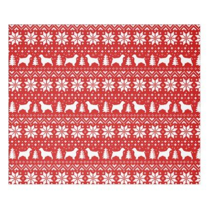 #Welsh Springer Spaniels Christmas Pattern Red Fleece Blanket - #xmas #christmas #christmastime #celebration #kids #children #family #parents #gift #gifts #present #presents