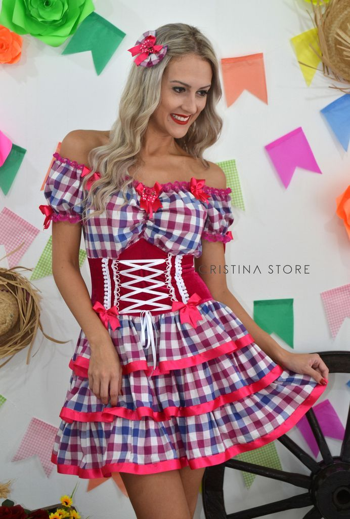 Vestido Xadrez/Pink - Caipira Chic na internet