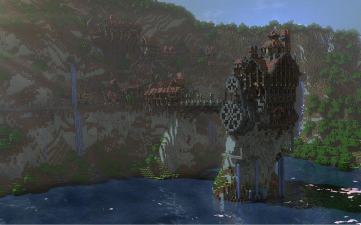 underwater castles minecraft | minecraft steampunk home by creativenode a steampunk styled minecraft ...
