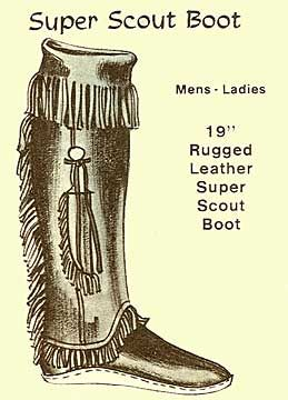 Mountain Man Boot Moccasins Scout Boot With Knife Sheath