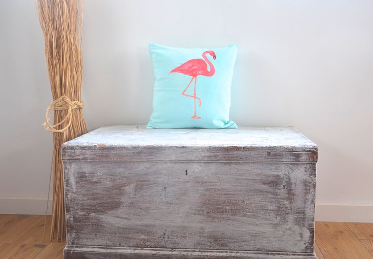 New baby blue flamingo print cushions / lifestyle products / interior homewares decor / beach boho summer style / cute kids interiors / Made in Bali / ethical / social responsibility / Ubud / Tevita Clothing and Lifestyle
