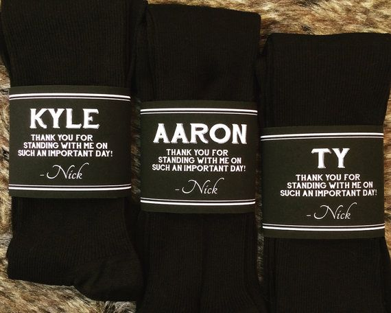 Socks Personalized Groomsmen Gifts Wedding // by RelaxEventStudio