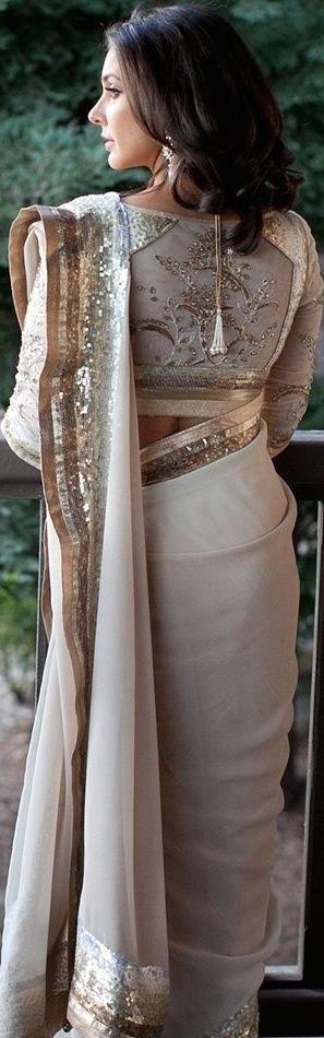 Lisa Ray in Satya Paul bridal saree for her wedding - original pin by @webjournal