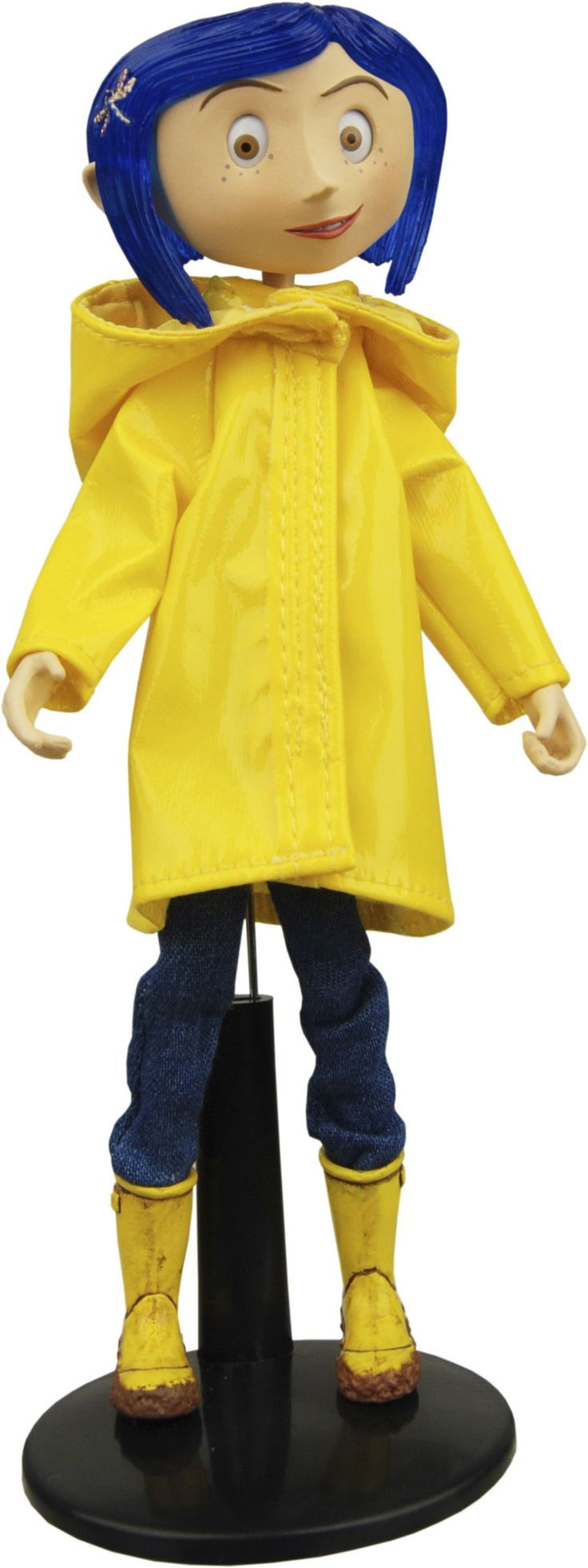 Coraline Bendy Doll in Rain Coat Bendy doll, Coraline, Dolls