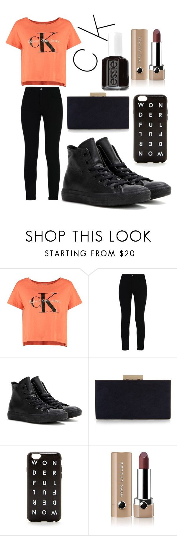 """c K 2"" by cintia2019 ❤ liked on Polyvore featuring Calvin Klein, STELLA McCARTNEY, Converse, Monsoon, J.Crew, Marc Jacobs and Essie"