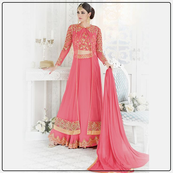This light color anarkali can get you attention of all any occasion. Shop Now @  https://goo.gl/EDUYoj