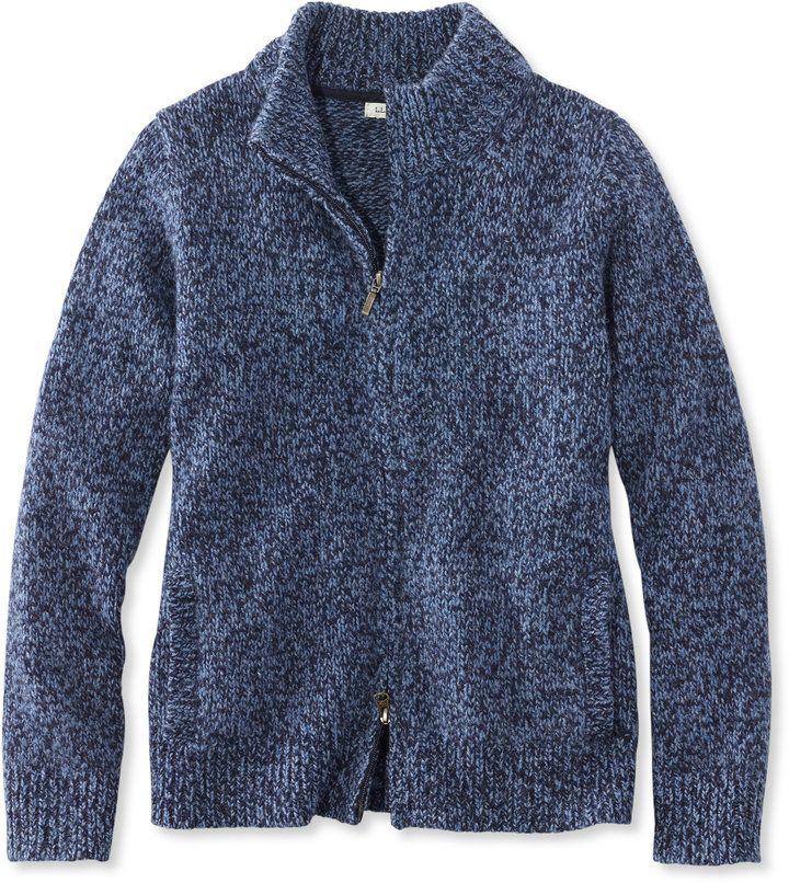 Bean's Classic Ragg Wool Sweater, Zip Cardigan