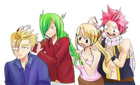 Fairy Tail Doodles Fraxus x nalu