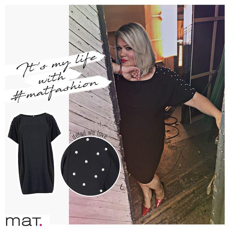 """Μπορείς να αντισταθείς στο Chic & feminine look; Η @hrislageo είπε """"ναι"""" στο mat. φόρεμα και κέρδισε! Aνακάλυψε το ➲ code: 681.7169  #matfashion #fw1718 #collection #lovematfashion #matfashionistas #ootd #fashion #style"""