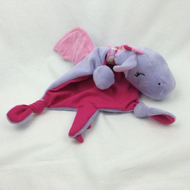Nähanleitungen Baby - Schnuffeltuch SchlappohrDrache Lotta - ein ...