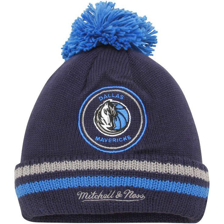 Dallas Mavericks Mitchell & Ness Current Logo Big Man High 5 Cuffed Knit Hat - Navy - $19.19