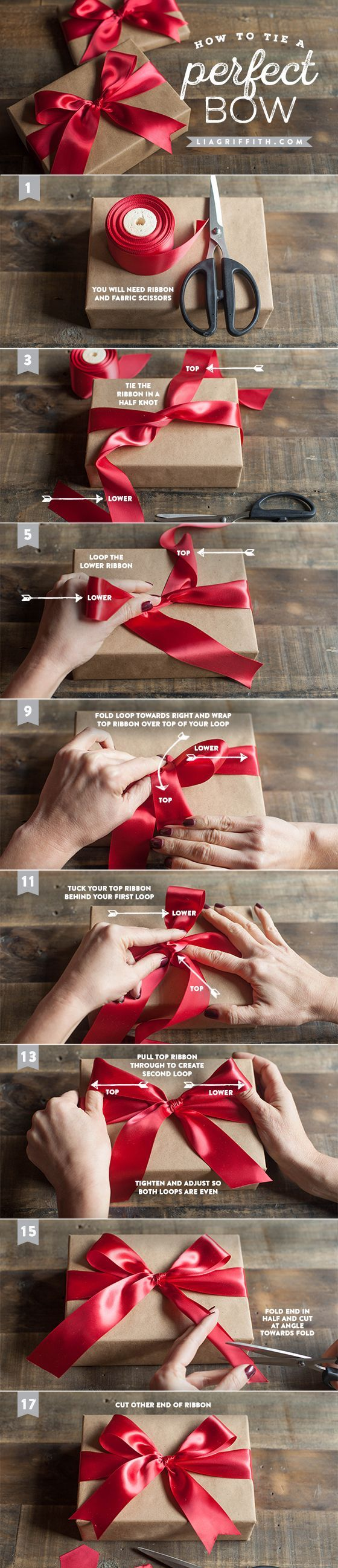 Bow tying for a beautiful present