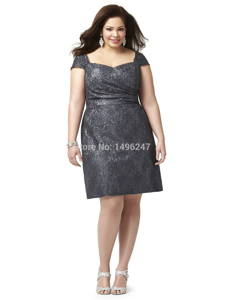 Best Click to Buy uc uc Hot Plus Size Lace Short Bridesmaid Dresses Fast Shipping