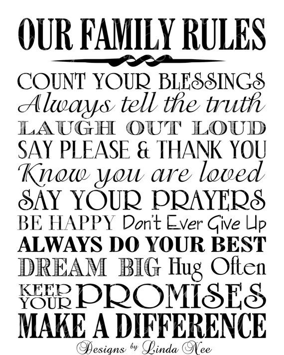 12 best template images on pinterest achieving goals cards and items similar to our family rules printable typography subway art wall printable one size on etsy pronofoot35fo Image collections