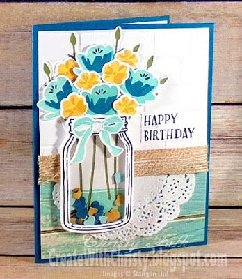 Create With Christy: Jar of Love Shaker Birthday Card