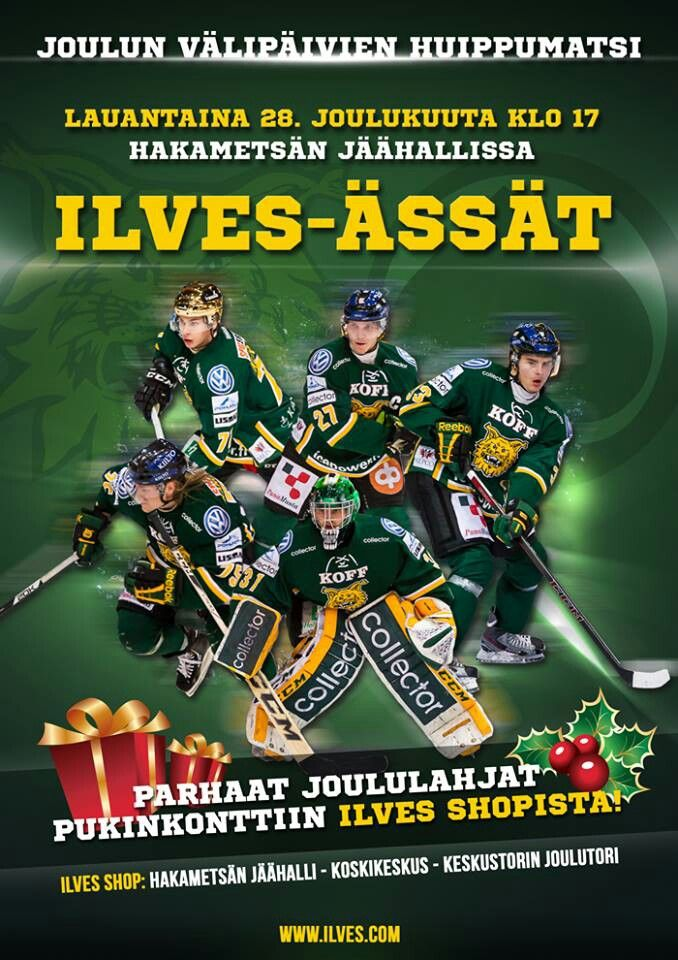 Ilves-Ässät ottelumainos / gameday poster. Player pictures by Timokophotography