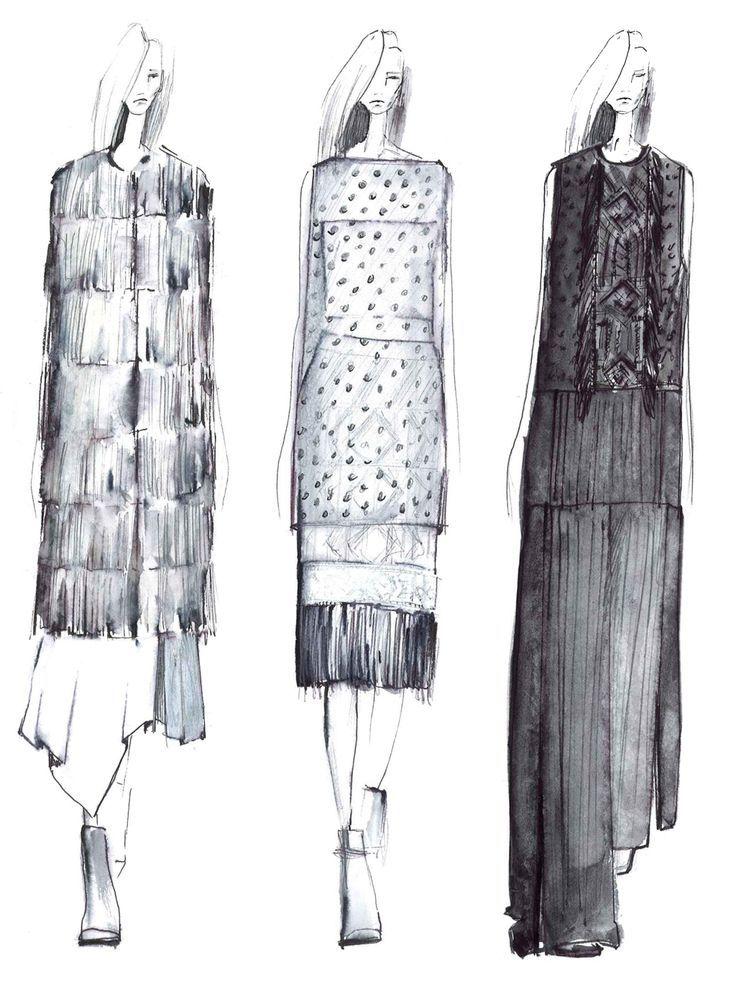 Fashion Sketchbook - fashion illustration lineup; fashion portfolio inspiration // Tess Giberson Nail Design, Nail Art, Nail Salon, Irvine, Newport Beach