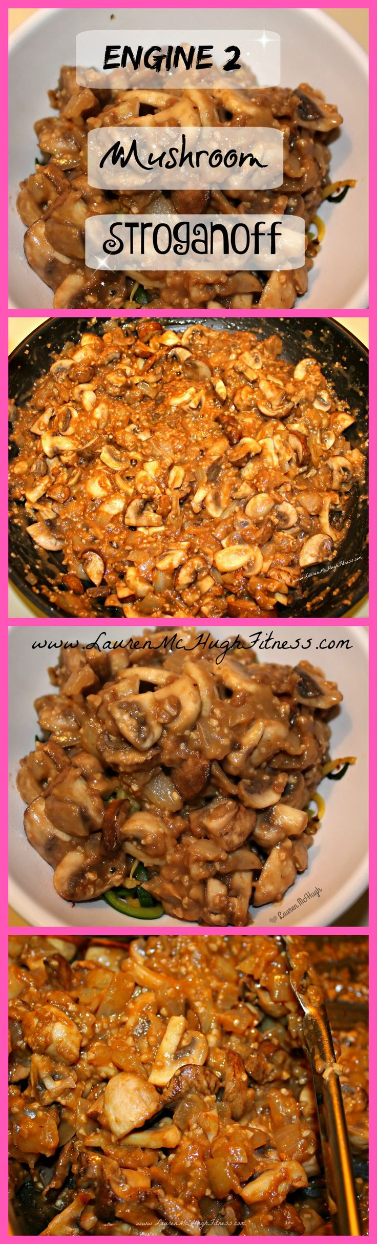 Engine 2 Diet Mushroom Stroganoff! :) I've been looking for more oil-free yummy veggie-filled recipes, so I decided to go with this Engine 2 Mushroom Stroganoff. I found it on Engine2Diet.com under the Dinner recipes. I modified it a little bit, so CLICK the pin to see the full recipe, and REPIN if you want to try this! :) #Engine2Diet #OilFree #DairyFree #Vegan