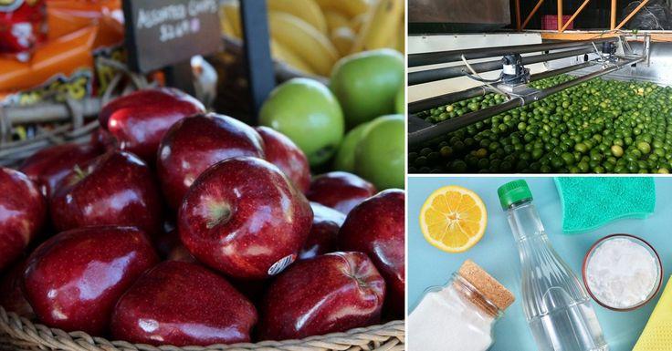 Cómo quitar la cera y los pesticidas de una fruta