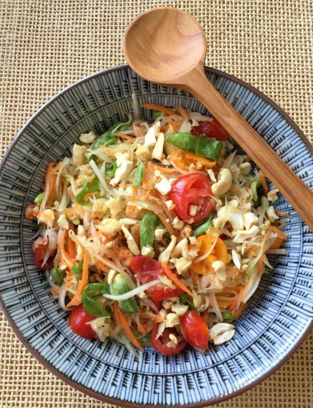 Salade de papaye verte (Som Tam), la vraie recette, enfin presque