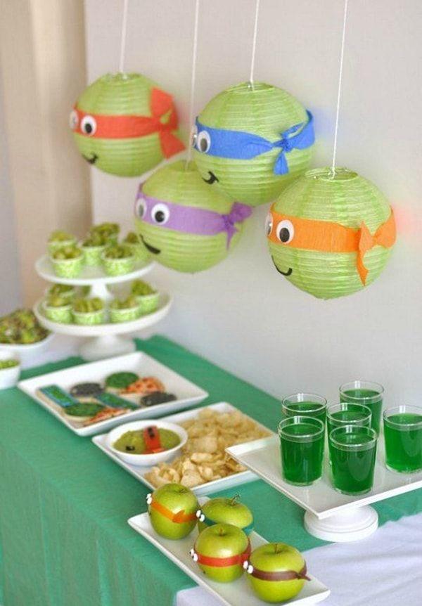 Fiesta temática de las Tortugas Ninja