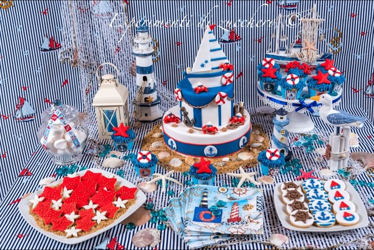 Nautical sweet table sweet table pinterest mesas - Decoracion marinera barata ...