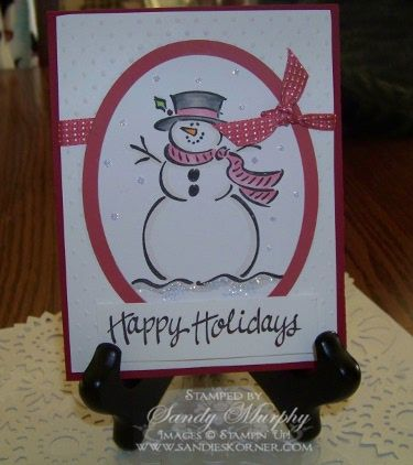 Frosty Is Back by Sandy Murphy - Cards and Paper Crafts at Splitcoaststampers